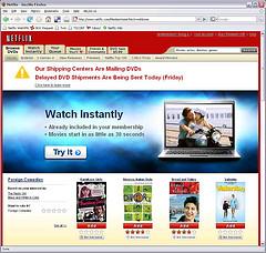 Handling a Netflix outage, 2008 Aug 15