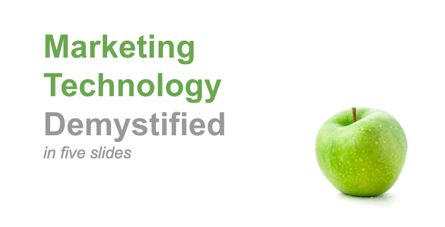 Marketing Technology Demystified in 5 slides